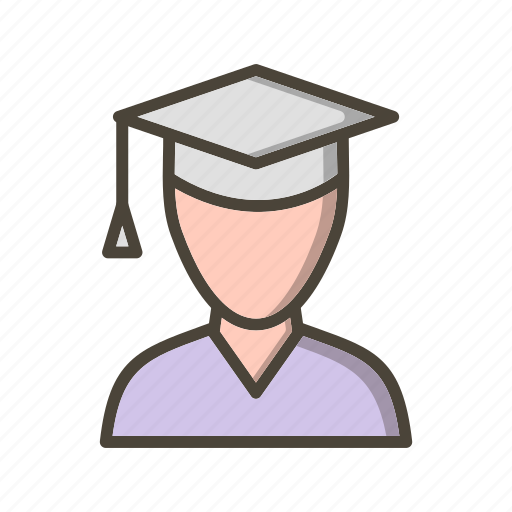 avatar, graduate, male student, student icon
