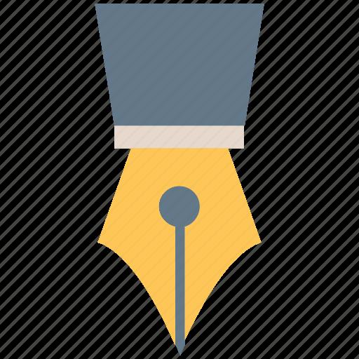 Nib, pen bill, pen nib, pen point, point of pen, tipped pen icon - Download on Iconfinder