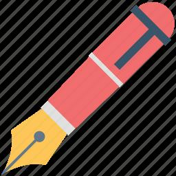fountain pen, ink pen, nib, pen, pen tip icon
