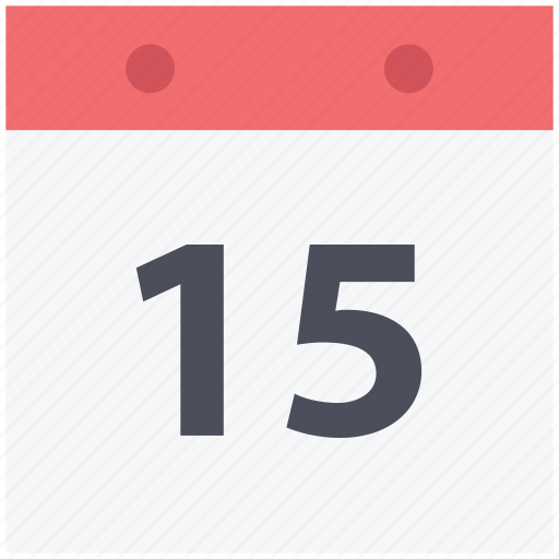 calendar, date, day, fifteen date, schedule, time frame, yearbook icon