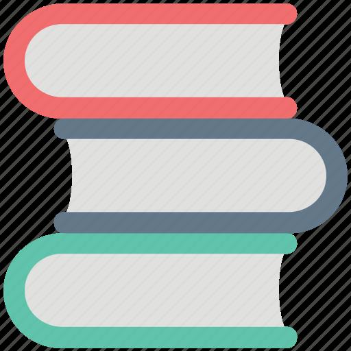 books, books shelf, catalogs, library, manual guide icon