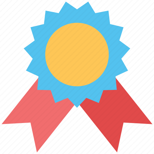 achievement, badge, emblem, medal, ribbon badge, top rated, winner icon