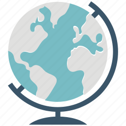 atlas map, earth, geographic, geographic map, globe, table globe, world icon