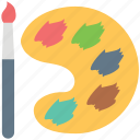 paint brush, paint color, paint palette, painting, painting tool, paints, watercolor icon