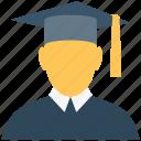 academician, graduate, graduation, scholar, scholastic, student icon