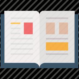 album, book, bookmark, card book, catalog, education, stenopad icon