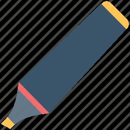 board marker, color fill, felt-tip, highlighter, marker, pen icon