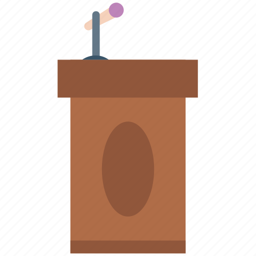 conference hall, on stage, podium, presenter, rostrum, speaker, speech podium icon