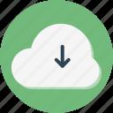 arrow, data, document, download, extension, files, storage icon