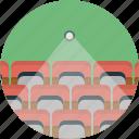 audio, cinema, entertainment, multimedia, play, theater, ticket icon