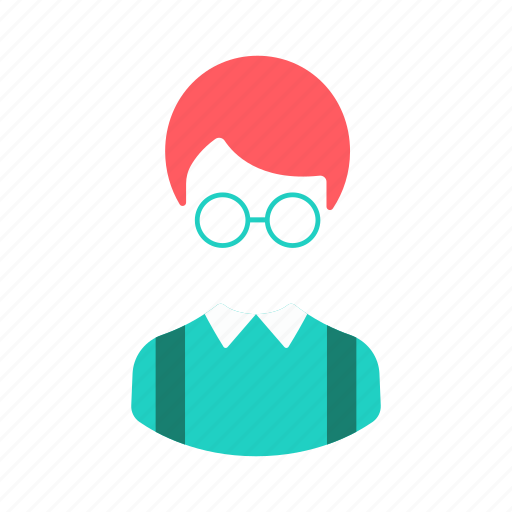 boy, elementary, immature, student, user icon