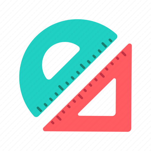 Education, geometry, measuring, ruler, shape icon - Download on Iconfinder