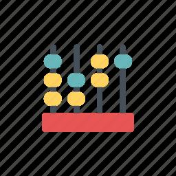 abacus, calculator, math, ruler, school equipment icon