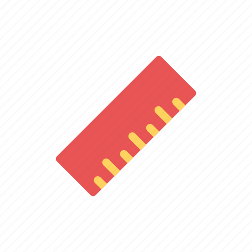 Measure, ruler, ruler measure, school equipment, size icon - Download on Iconfinder