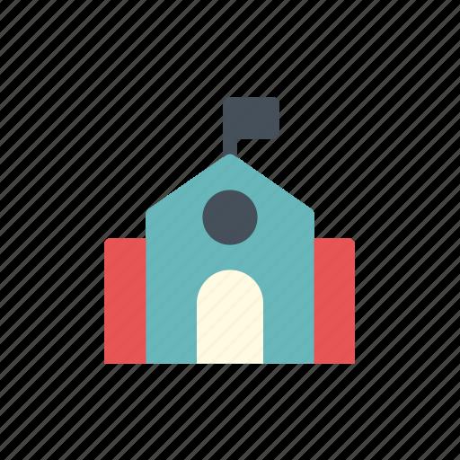 college, education, learn, learning, school, school building, school logo icon