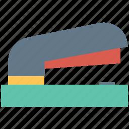 office equipment, office supplies, paper stapler, stapler, stationery icon