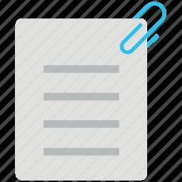 attach notes, attached, attachment, paper, paper clip icon