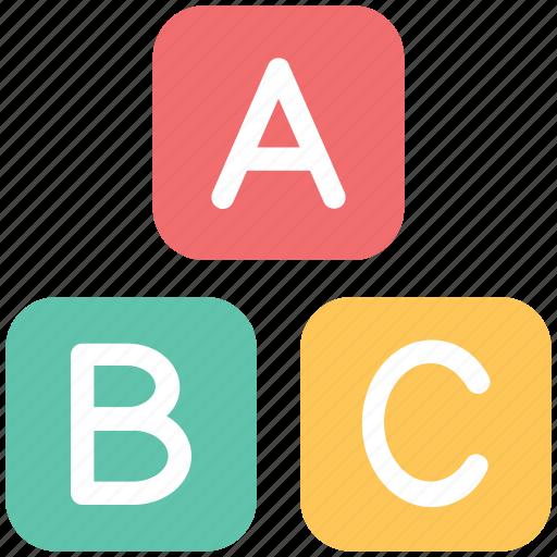 abc, abc blocks, alphabet, alphabet blocks, blocks, cubes icon