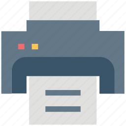 facsimile, fax machine, printer, printing device, telefacsimile, telefax icon