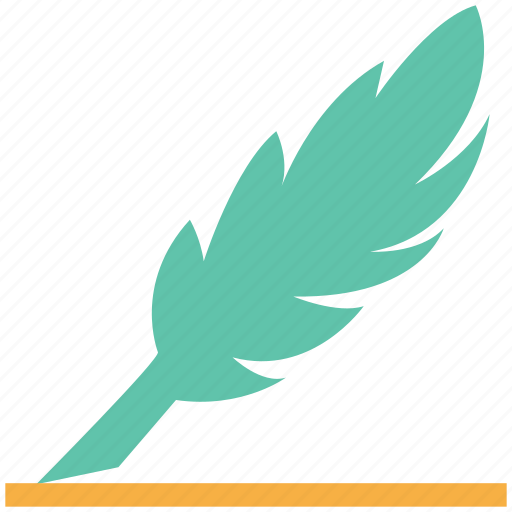 feather, feather pen, quill, quill pen, writing icon