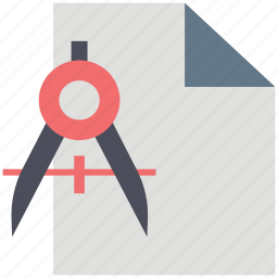 compass, divider, documents, drafting, drawing, geometry, papers icon