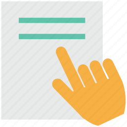 education, hand gesture, learning, online study, pointing, read, study icon