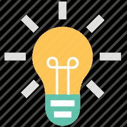 bulb, electric bulb, flash bulb, incandescent lamp, light, light bulb icon