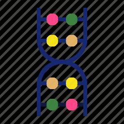 biology, collage, dna, education, molecule, school, sience icon