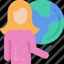 education, globe, lesson, teacher, teaching, worldwide icon