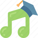 education, instruments, music, notes, singing, teacher icon