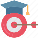 education, goals, lesson, targets, teacher, teaching icon