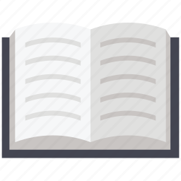 book, education, learn, learning, open book, reading, study icon
