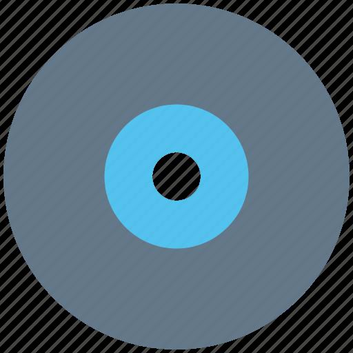 cd, data storage, dvd, music, storage device, vinyl icon