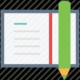 log pad, notebook, notepad, pencil, steno pad, writing, writing pad icon