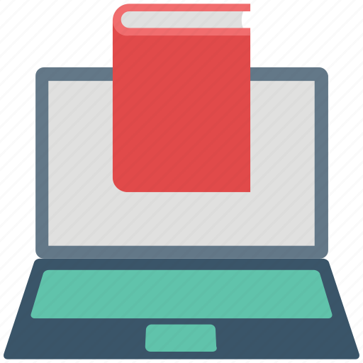 book, e learning, education, laptop, online education, online study, study icon