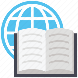 book, encyclopedia, geography, geography book, globe, map icon