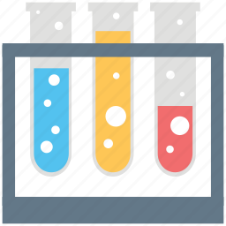 chemistry, culture tubes, experiment, lab test, laboratory, sample tubes, test tubes icon
