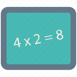 calculation, education, learning, math question, mathematics, study icon