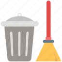 besom, broom, cleaning, dustbin, mop, swab, sweeping icon