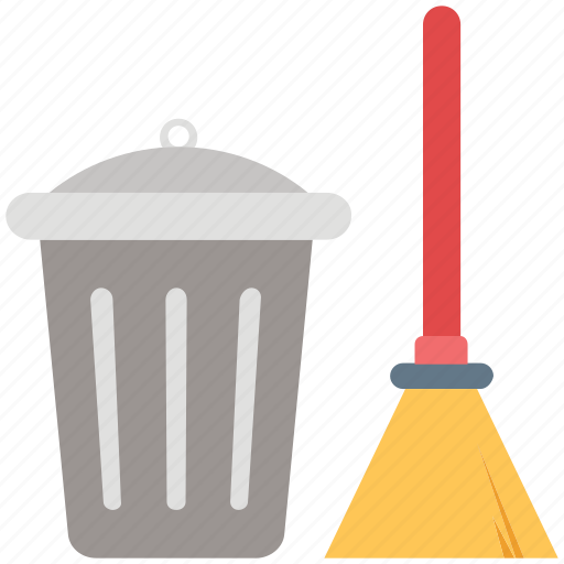 Besom, broom, cleaning, dustbin, mop, swab, sweeping icon - Download on Iconfinder
