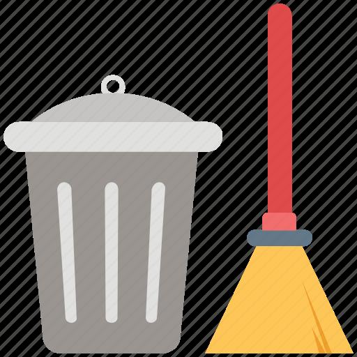 besom, broom, cleaning, dustbin, mop, swab, sweeping icon