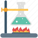 chemistry, erlenmeyer flask, experiment, flask stand, lab flask, laboratory, research icon