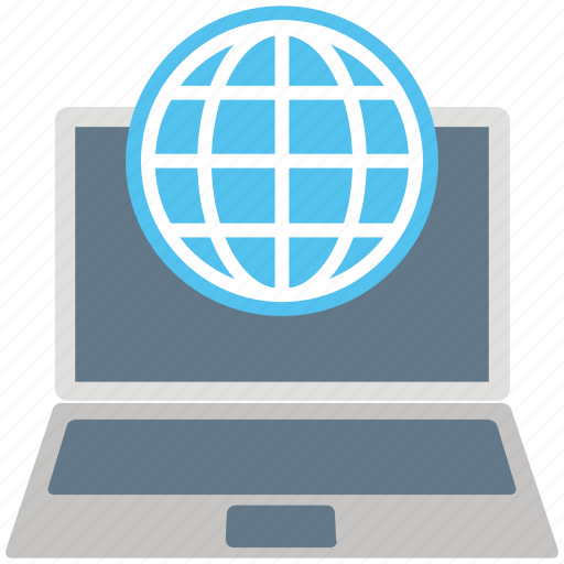 E learning, globe, internet, laptop, network, notebook pc, worldwide icon - Download on Iconfinder