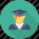 education, graduate, graduation, student icon icon