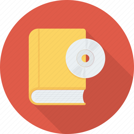 book, cd, cd with book, educational cd icon icon