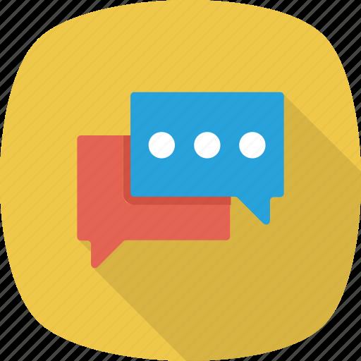 bubbles, chat, chat bubbles, chatting, comment, conversation icon