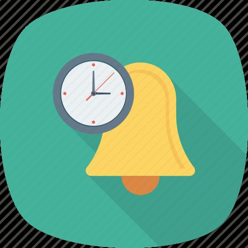 alarm, alert, bell, deadline, time, timer, warning icon icon