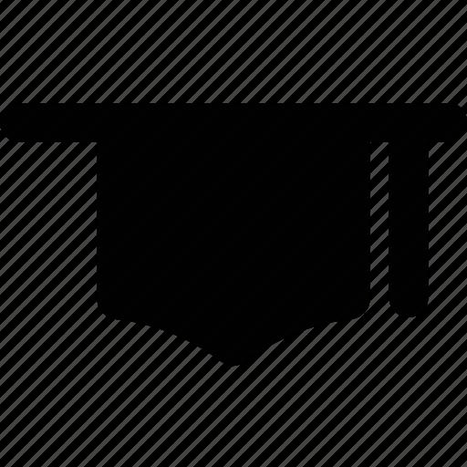 awarded cap, degree cap, graduate, mortarboard, tassel cap icon