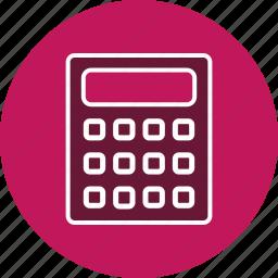accounting, calculation, calculator, device, digital, mathematics, technology icon