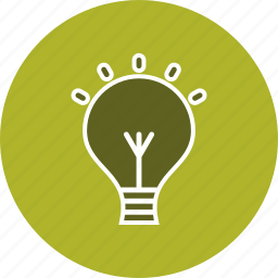 bulb, energy, idea icon